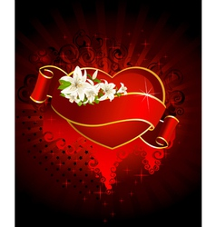 heart heraldry vector image