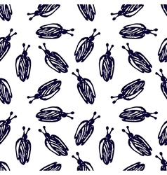 Seamless pattern hand sketch drawing imitation vector