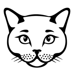 Cat head cut vector