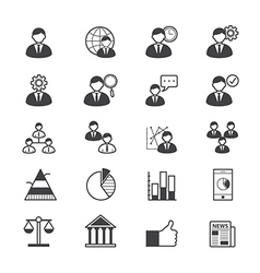 Management icons line vector
