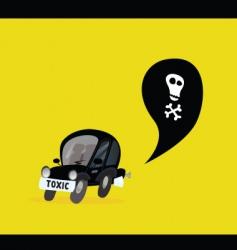 car pollution vector image