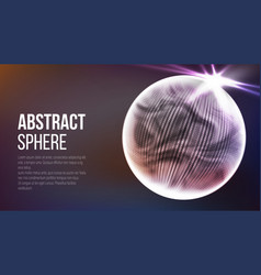 Abstract sphere shape abstract polygonal space vector