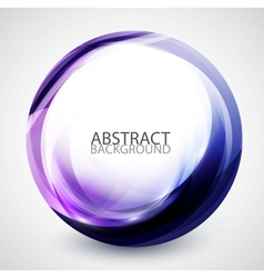 Abstract swirl energy circle vector
