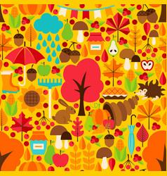 Autumn season seamless pattern vector