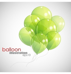 Background with green balloons vector