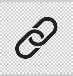 Chain icon in flat style on isolated background vector