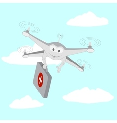 Drone ambulance services the sky vector