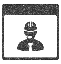 Engineer calendar day grainy texture icon vector