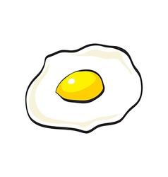 Flat design of doodle scrambled egg vector
