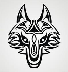 Fox Head Tribal vector image