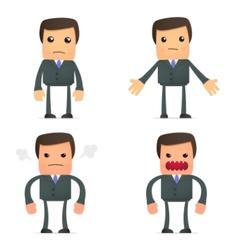 funny cartoon businessman vector image vector image