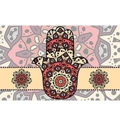 hamsa card vector image