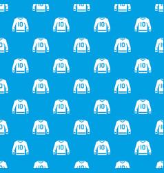 Hockey jersey pattern seamless blue vector