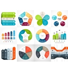 Infographic templates set template for vector