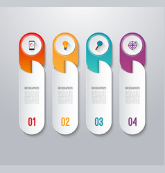 Modern infographic banner with 4 options vector