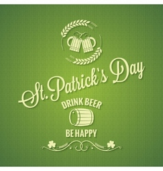 Patrick day beer design background vector image