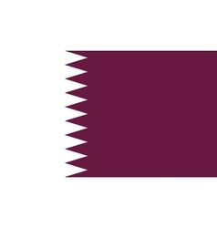 Qatar flag image vector image