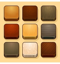 Set of wood ios icons vector image vector image
