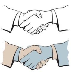 shake hands vector image vector image