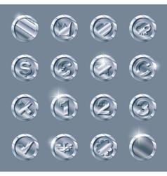 Silver coins set vector
