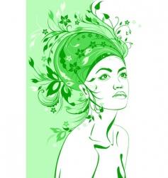 spring girl vector image