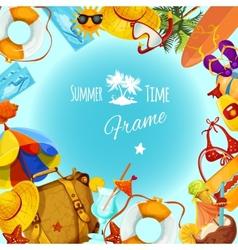 Summer holidays frame vector