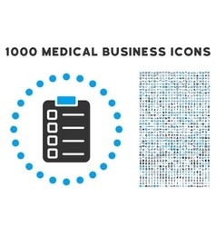 Test task icon with 1000 medical business vector