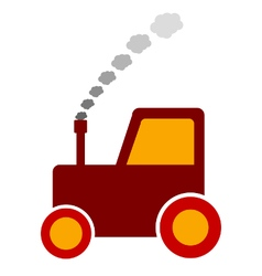 Tractor icon on white vector