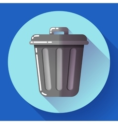 Trash can icon Recycle Bin Garbage Flat vector image