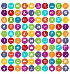100 balance icons set color vector