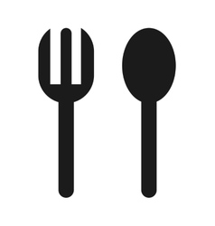 Fork and spoon icon vector