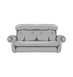 Sofa icon black monochrome style vector