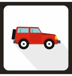 Jeep icon flat style vector