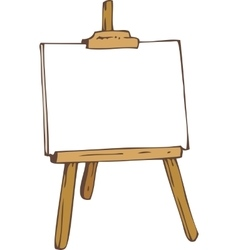 White paper on the wooden easel vector