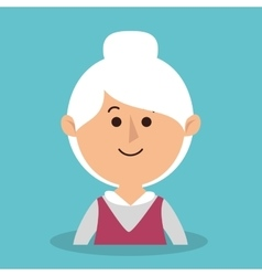 Grandmother avatar character icon vector