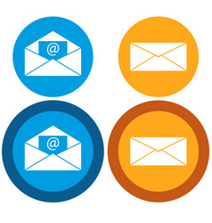 Message icon flat vector