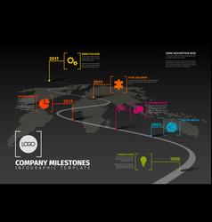 Company milestones timeline template vector