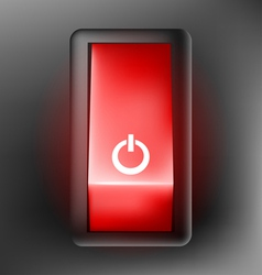 Red switch button vector