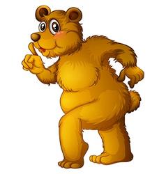A big brown bear vector image