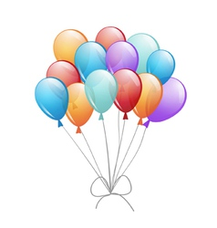 A group of balloons vector