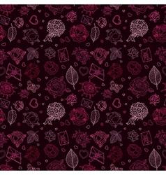 Seamless wedding patterns vector image