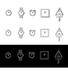 Watch and clock vector