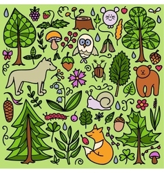 Forest color pattern vector image