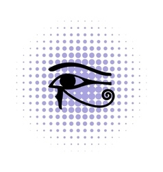 Eye of horus icon in comics style vector