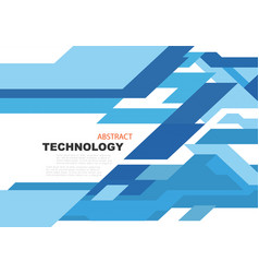 abstract technology background in blue circuit vector image