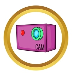 Action video digital camera icon vector
