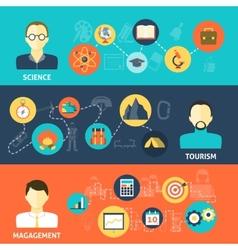 Avatars Banner Set vector image