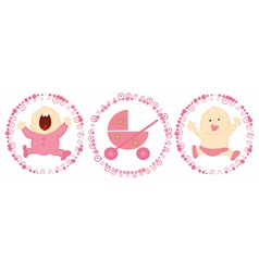 baby labels vector image vector image