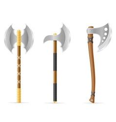 battle axe 04 vector image vector image