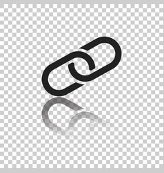 Chain icon in flat style isolated on white vector